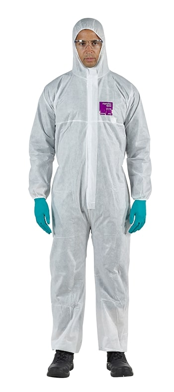 Disposable coverall Type 5/6 Ansell Alphatec 1500, white, size M