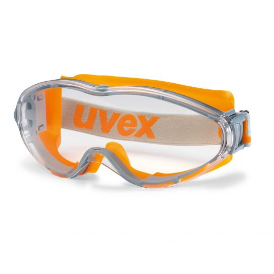 Safety goggles Uvex Ultrasonic, clear panoramamic lense, supravision excellence coating, grey/orange