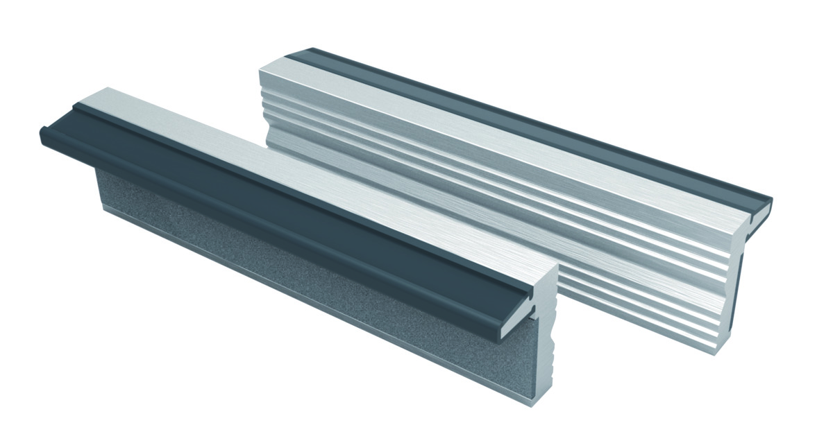 Spare jaws for bench vises (Al) 100mm with magnet