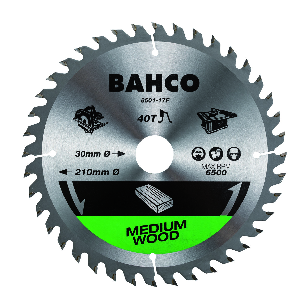 Circular saw blade for cordless saw machines 184x16mm 24T for wood