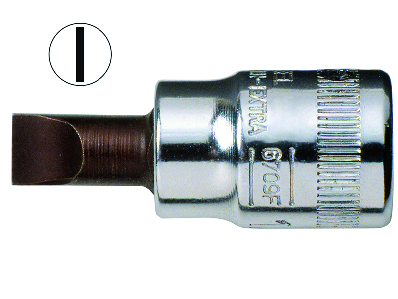Socket driver 6709F for slotted screws 0,8x5,5mm 1/4""