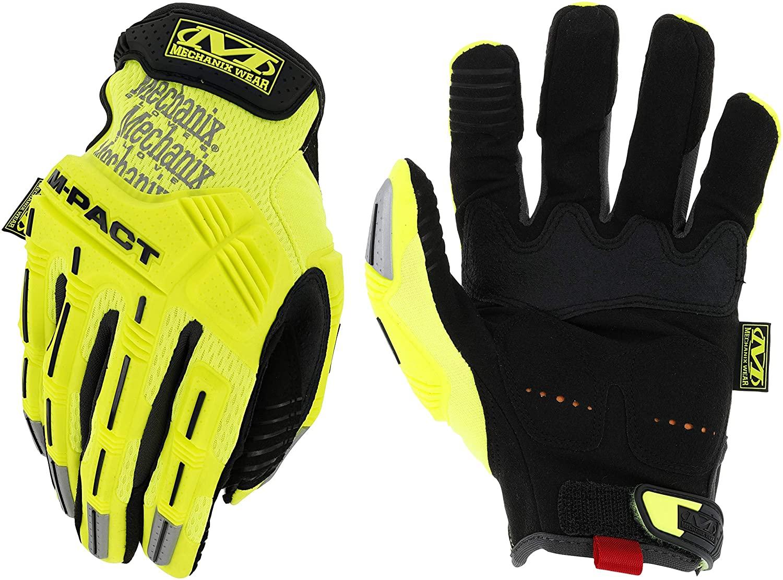 Gloves M-PACT HI-VIZ yellow L/10