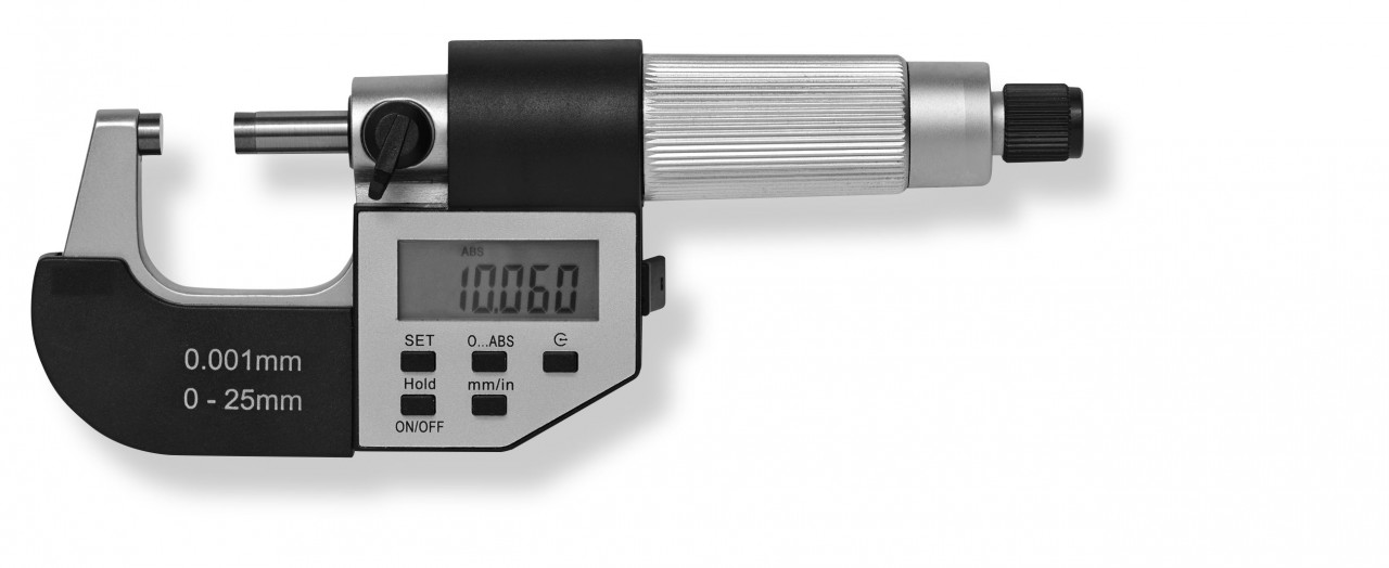 Digital-micrometer 0-25mm / 0.001mm DIN 863