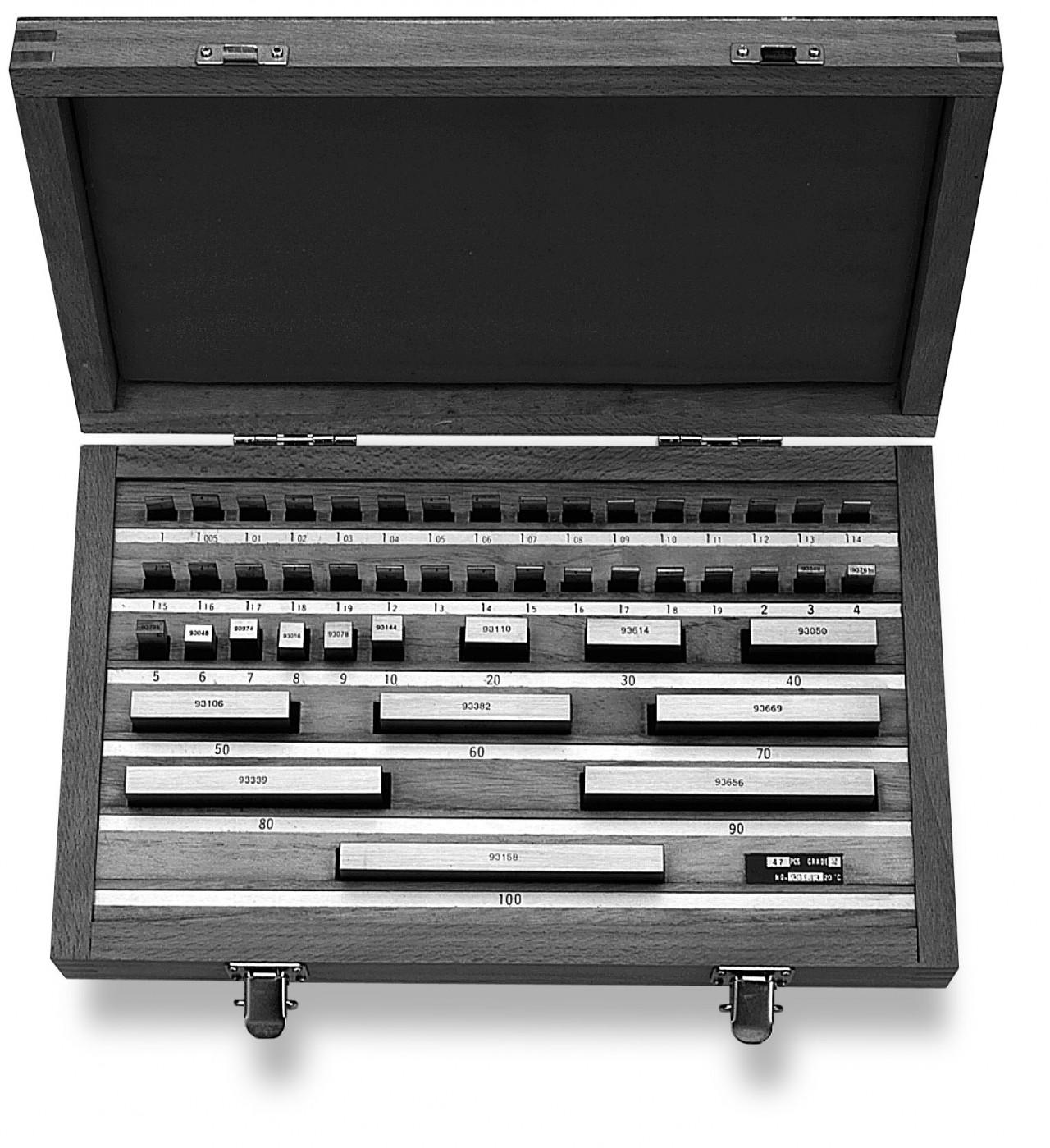 Kalibravimo plokštelių rinkinys 0.005-50mm / DIN EN ISO 3650